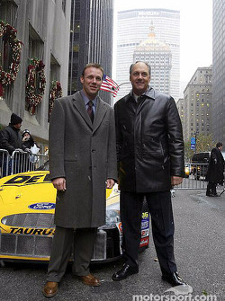 Matt Kenseth and Dan Davis outside the Waldorf Astoria hotel