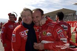 Jean Todt and Rubens Barrichello