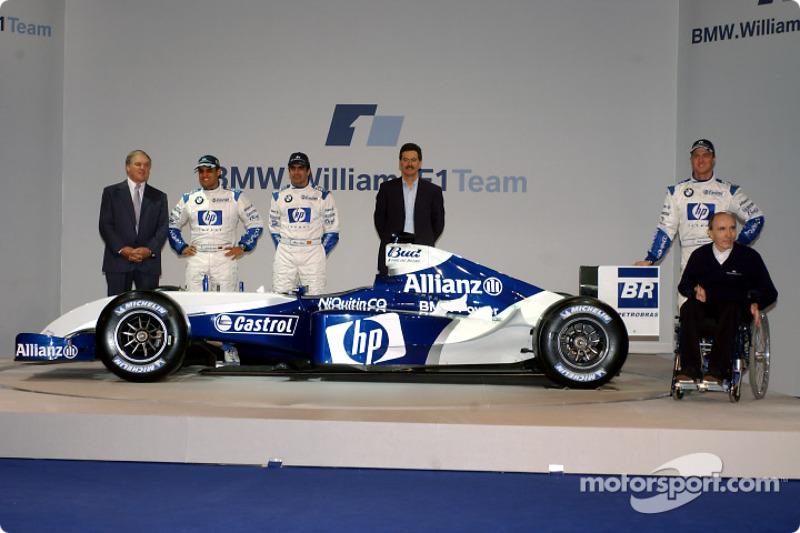 Patrick Head, Juan Pablo Montoya, Marc Gene, Dr Mario Theissen, Ralf Schumacher ve Frank Williams
