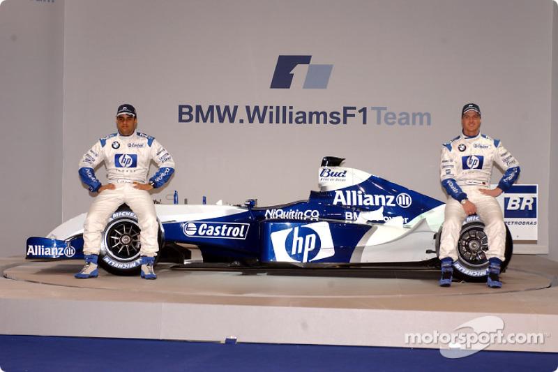 Хуан-Пабло Монтойя та Ральф Шумахер з новим Williams FW26 BMW