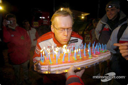 Ari Vatanen celebrates a record 50th all-time stage victory
