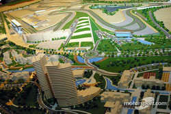 Scale model of the Dubai Autodrome