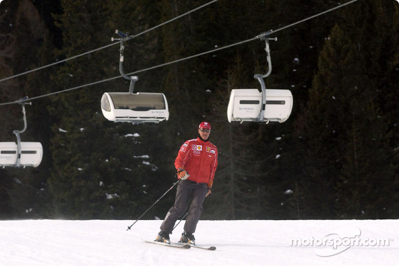 Michael Schumacher con skis