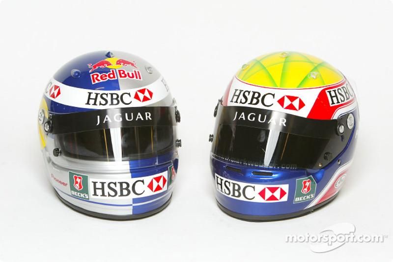 Mark Webber et le casque de Christian Klien