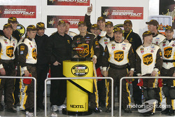 Victory lane: Dale Jarrett celebrates win with his team