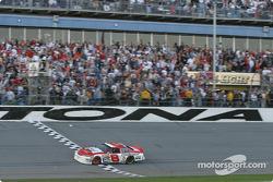 Dale Earnhardt Jr. takes checkered flag