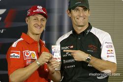 Conferencia de prensa: Michael Schumacher y Mark Webber