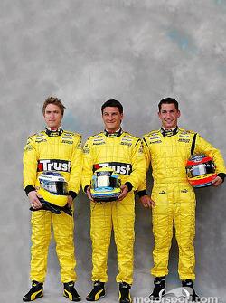 Photoshoot: Nick Heidfeld, Giorgio Pantano and Timo Glock