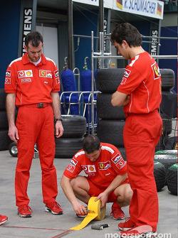 Pitlane setup at Ferrari