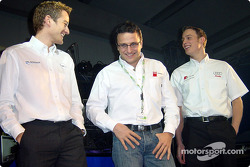 Timo Scheider, Christian Abt and Peter Terting