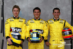 Photoshoot: Nick Heidfeld, Giorgio Pantano and Timo Glock