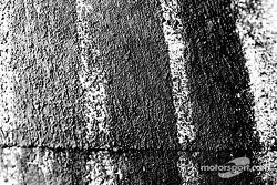 Close-up shot in BAR garage area