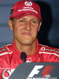 Press conference: pole winner Michael Schumacher