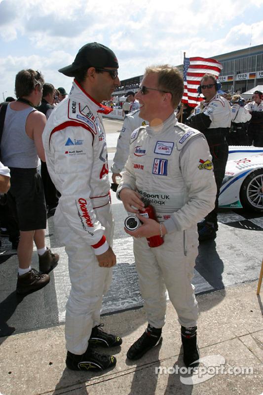 Emanuele Pirro et Johnny Herbert