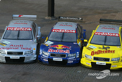 The Audi A4 DTM of Audi Sport Infineon Team Joest, Audi Sport Team Abt and Audi Sport Team Abt Sportsline