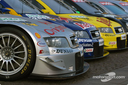 The three Audi A4 DTM cars