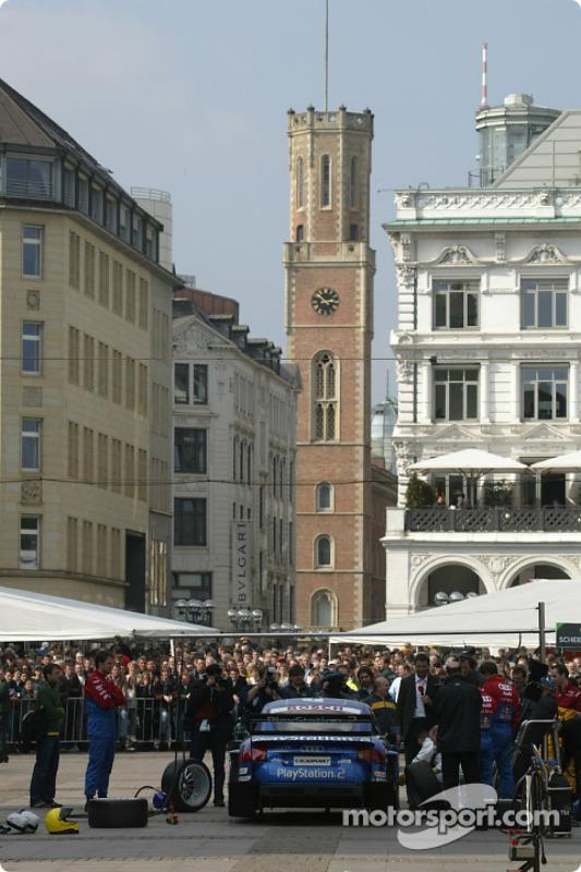 Audi organise une course de taxi dans les rues de Hambourg
