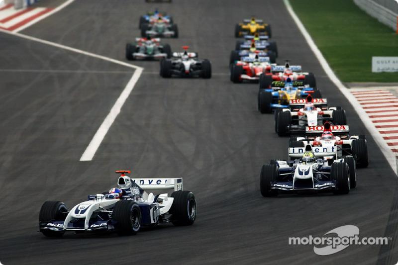 Juan Pablo Montoya, Williams FW26; Ralf Schumacher, Williams FW26