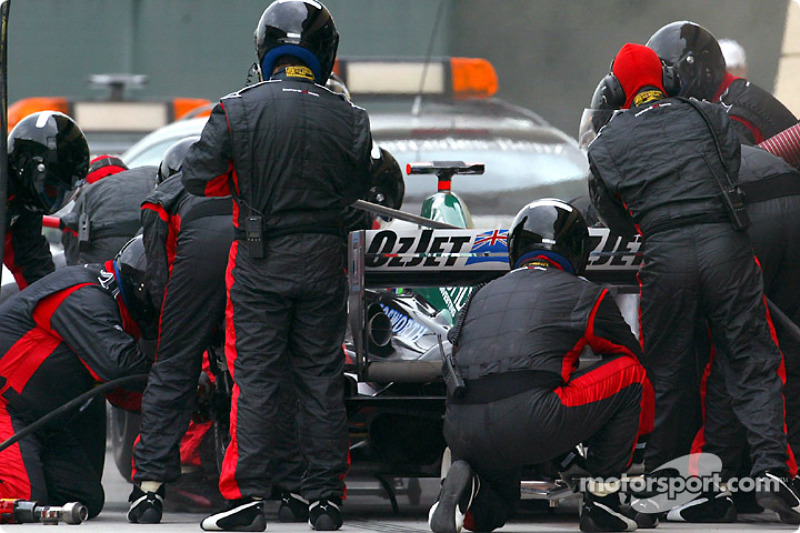Boxenstopp: Zsolt Baumgartner, Minardi PS04B