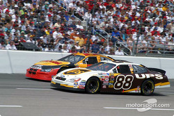Dale Jarrett takes Brendan Gaughan on the inside