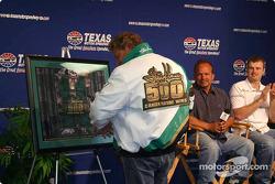 Steve Kinser models the special jacket