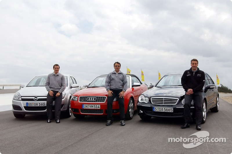Timo Scheider, Christian Abt and Bernd Schneider test the road version of their DTM cars