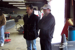 Chief Engineer for Robby Gordon's Indianapolis 500 effort Thomas Knapp discusses the difference in cars with Chris Andrews, crew chief for Gordon's No. 31 Cingular Wireless Chevrolet in the NASCAR NEXTEL Cup Series