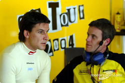 Giorgio Pantano talks with race engineer Dominic Harlow