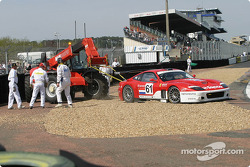 #61 Barron Connor Racing Ferrari 575 Maranello: John Bosch, Danny Sullivan in trouble