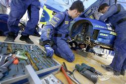 Subaru World Rally Team service area