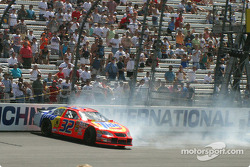 Ricky Craven goes into the wall