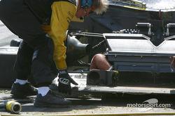 Damage on the #10 car