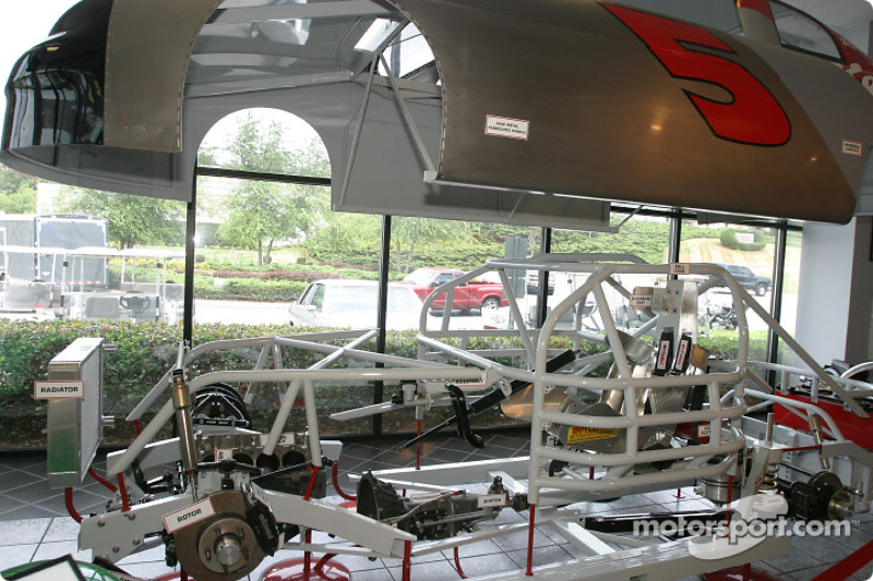 Visit of hendrick motorsports chassis on display in the for Charlotte motor speedway museum