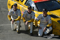 Team photo: Max Papis, Johnny O'Connell, Ron Fellows
