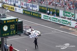 #5 Audi Sport Japan Team Goh Audi R8 takes the checkered flag