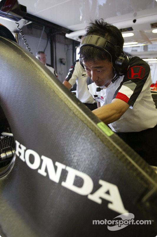 Área de garage de BAR-Honda