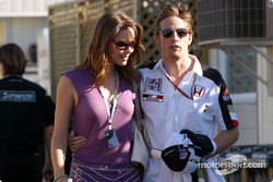 Jenson Button and girlfriend Louise
