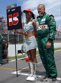 Jaguar team member with a grid girl