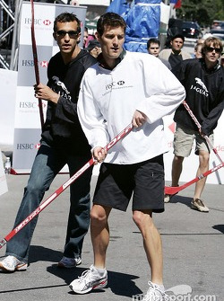 HSBC street hockey event: Mark Webber