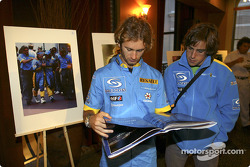 Renault F1 photographic competition award: Jarno Trulli and Fernando Alonso
