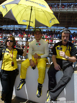 Giorgio Pantano on the starting grid