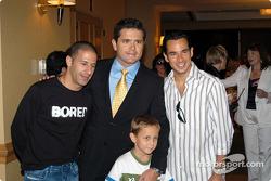 Tony Kanaan, Gil and Luke De Ferran and Helio Castroneves