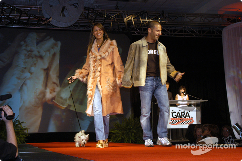 Tony Kanaan, wife Danni and dog Lucky