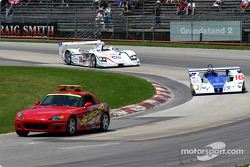 Pace car leads the way before the start