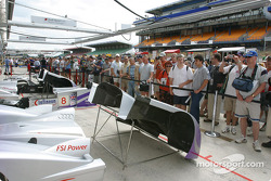 Fans during Friday's pitwalk