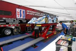 Bucknum car at IMSA scrutineering