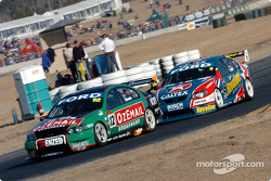 Russell Ingall passing John Bowe