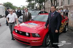 Vice President of Ford Motor Company Cisco Codina, Mark Martin and Homestead-Miami Speedway Presiden