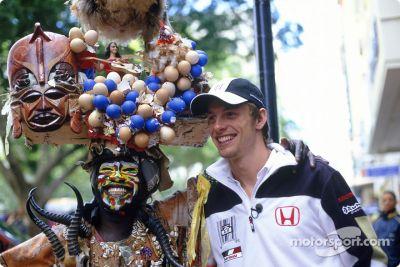 Jenson Button Güney Afrika ziyareti