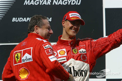 Podium: Jean Todt and Michael Schumacher